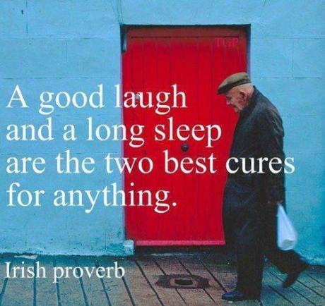 lachen und schlafen